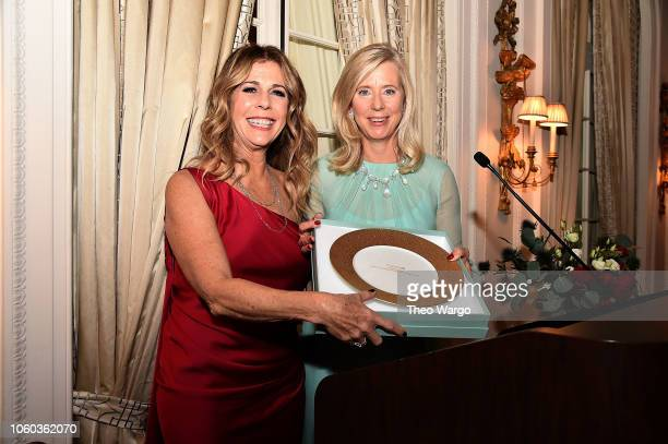 Rita Wilson and Countess Dorothea de la Houssaye attend the 2018 American Friends of Blerancourt Dinner on November 9 2018 in New York City