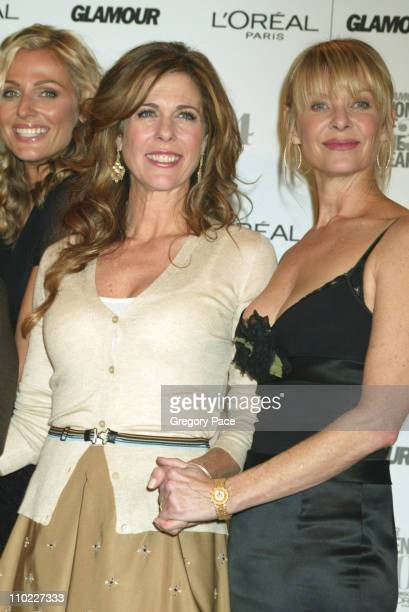 Rita Wilson and Kate Capshaw during Glamour Magazine Salutes The 2004 Women of the Year Inside the Pressroom at American Museum of Natural History in...