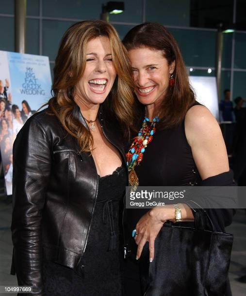 Rita Wilson and Mimi Rogers during 'My Big Fat Greek Wedding' Hollywood Premiere at ArcLight Theatre in Hollywood California United States