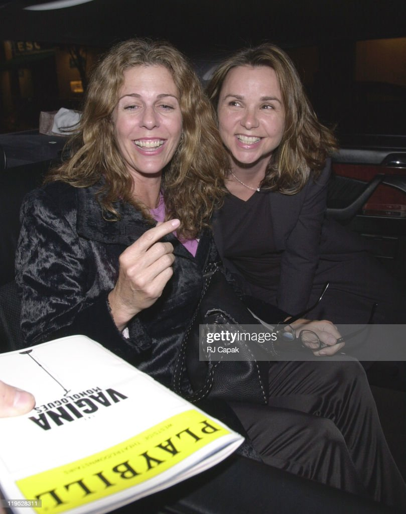 Rita Wilson and Patty Smyth during Vagina Monologues exits in New York City, New York, United States.