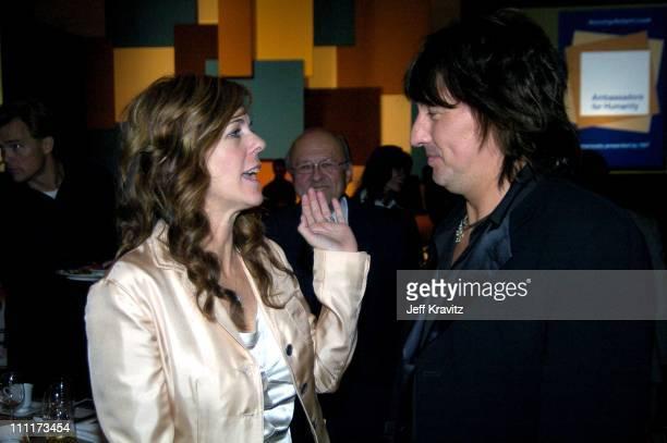 Rita Wilson and Richie Sambora during Shoah Foundation Exclusive Event at Amblin Entertainment on Universal Studios in Universal City California...