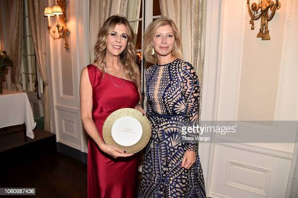 Rita Wilson and Rita Wilson and French Consul General in NY AnneClaire Legendre attend the 2018 American Friends of Blerancourt Dinner on November 9...