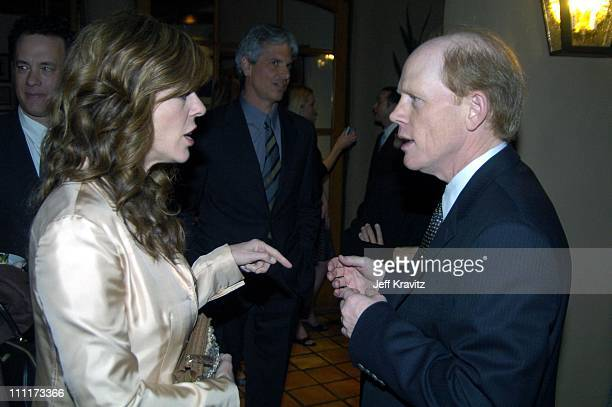 Rita Wilson and Ron Howard during Shoah Foundation Exclusive Event at Amblin Entertainment on Universal Studios in Universal City California United...