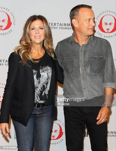 Rita Wilson and Tom Hanks attend the 23rd Annual Simply Shakespeare Benefit Reading Of The Two Gentlemen Of Verona at The Broad Stage on September 25...