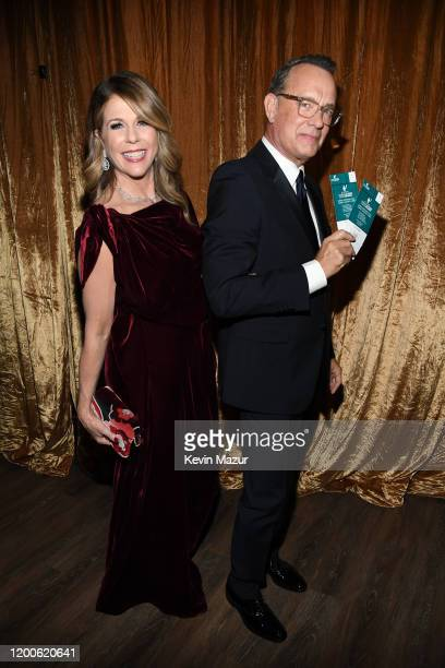 Rita Wilson and Tom Hanks attend the 26th Annual Screen ActorsGuild Awards at The Shrine Auditorium on January 19, 2020 in Los Angeles, California....