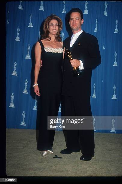 Rita Wilson and Tom Hanks attend the 67th Annual Academy Awards ceremony March 27, 1995 in Los Angeles, CA. This year''s ceremony recognizes...