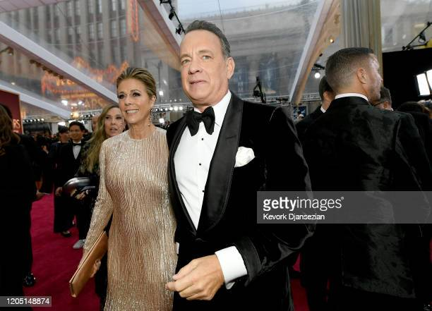 Rita Wilson and Tom Hanks attend the 92nd Annual Academy Awards at Hollywood and Highland on February 09 2020 in Hollywood California