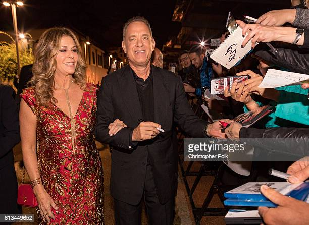 Rita Wilson and Tom Hanks attend the INFERNO World Premiere Red Carpet at the Opera di Firenze on October 8 2016 in Florence Italy