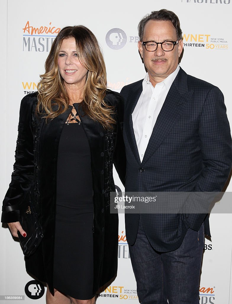 Rita Wilson and Tom Hanks attend the 'Inventing David Geffen' Los Angeles Premiere held at Writer's Guild Theater on November 13, 2012 in Los Angeles, California.