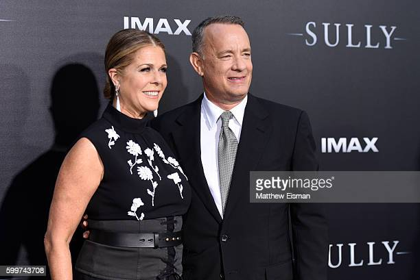 """Rita Wilson and Tom Hanks attend the """"Sully"""" New York Premiere at Alice Tully Hall on September 6, 2016 in New York City."""