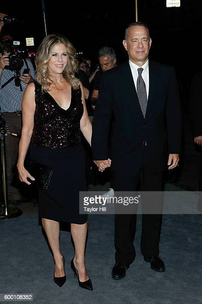 Rita Wilson and Tom Hanks attend the Tom Ford Fall 2016 fashion show during New York Fashion Week September 2016 at The Four Seasons on September 7...