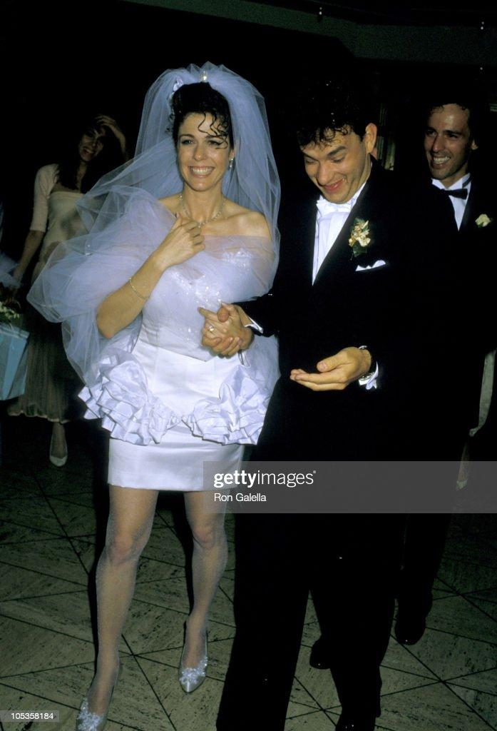 Rita Wilson And Tom Hanks During Wedding Reception At Rex S