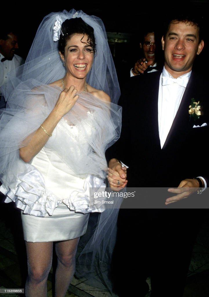 Tom Hanks and Rita Wilson Wedding Reception : News Photo