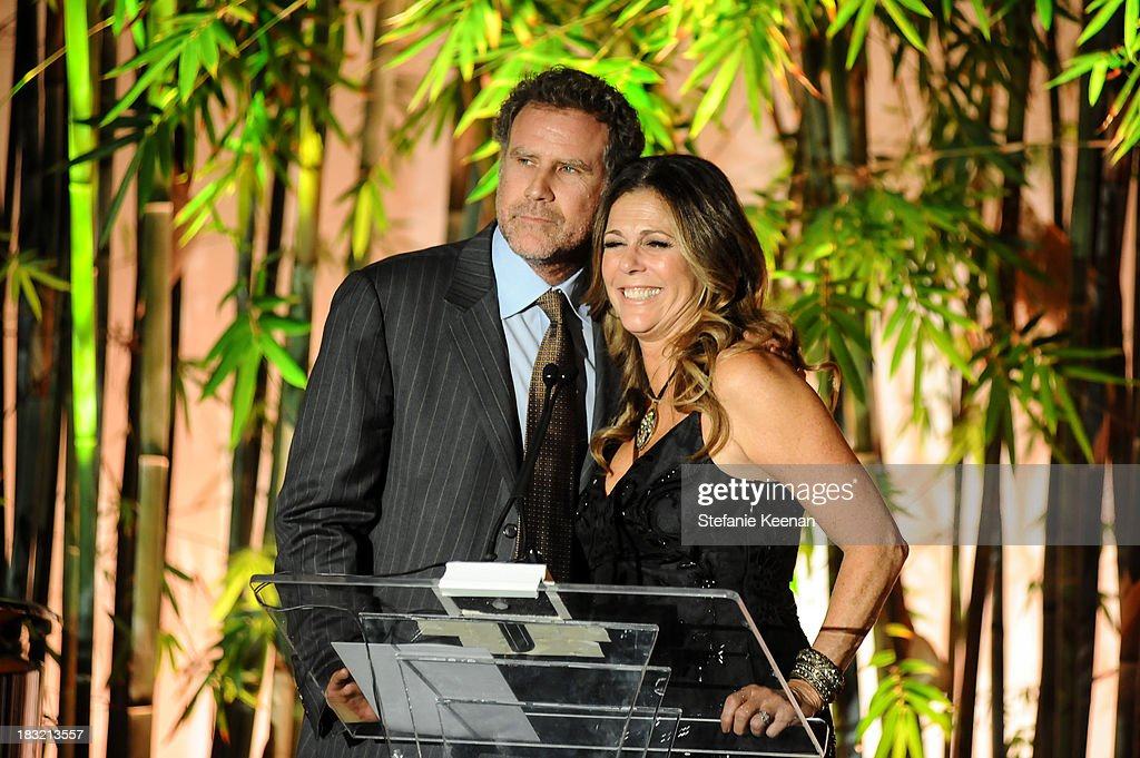 Rita Wilson and Will Ferrell attend Hammer Museum 11th Annual Gala In The Garden With Generous Support From Bottega Veneta, October 5, 2013, Los Angeles, CA at Hammer Museum on October 5, 2013 in Westwood, California.