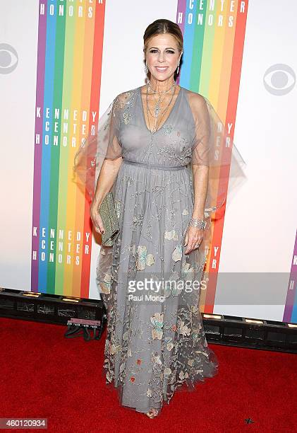 Rita Wilson arrives at the 37th Annual Kennedy Center Honors at the John F Kennedy Center for the Performing Arts on December 7 2014 in Washington DC
