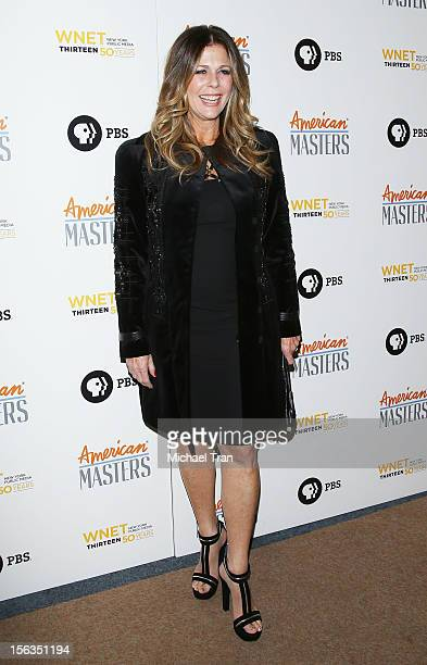Rita Wilson arrives at the Los Angeles premiere of 'Inventing David Geffen' held at Writer's Guild Theater on November 13 2012 in Los Angeles...