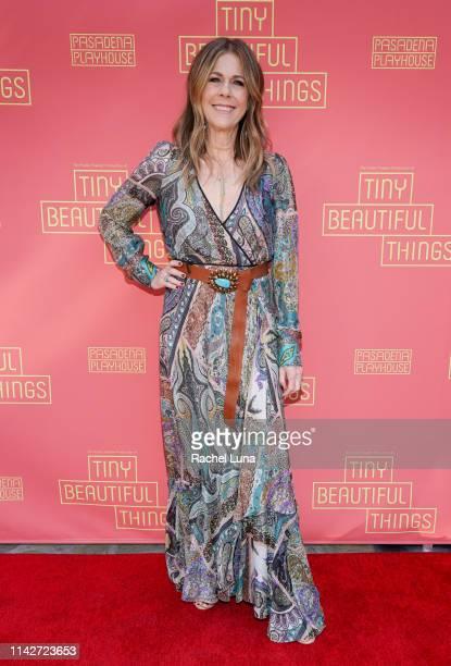 "Rita Wilson attends the opening night performance of ""Tiny Beautiful Things"" at Pasadena Playhouse on April 14, 2019 in Pasadena, California."
