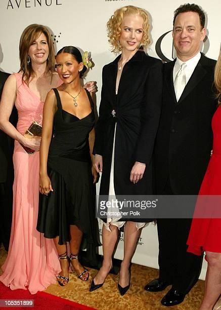 Rita Wilson Christina Aguilera Nicole Kidman and Tom Hanks