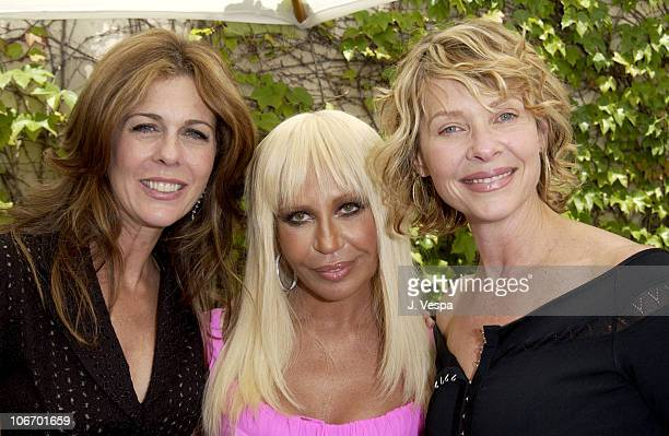 Rita Wilson Donatella Versace and Kate Capshaw during Versace Luncheon to Benefit Children's Action NetworkWestside Children's Center Sponsored By...