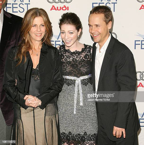 Rita Wilson Michelle Trachtenberg and Chad Lowe during AFI Film Festival Beautiful Ohio Premiere Arrivals at Arclight in Hollywood California United...