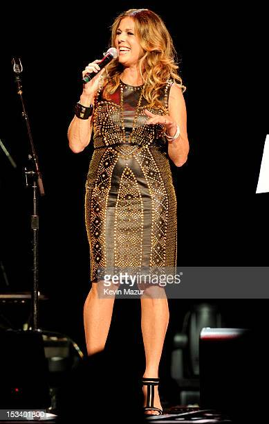 Rita Wilson performs on stage at the Children's Health Fund 25th Anniversary Concert at Radio City Music Hall on October 4 2012 in New York City