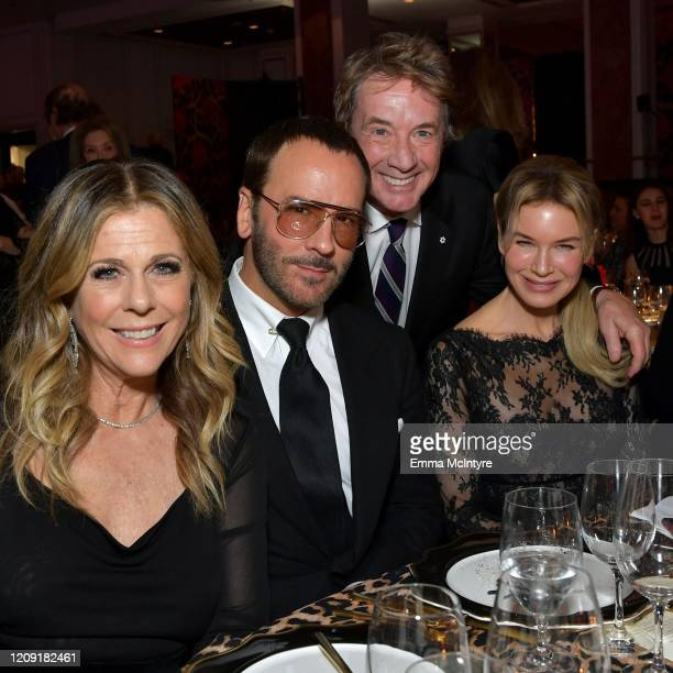 Rita Wilson Tom Ford Martin Short and honoree Renée Zellweger attend WCRF's An Unforgettable Evening at Beverly Wilshire A Four Seasons Hotel on...