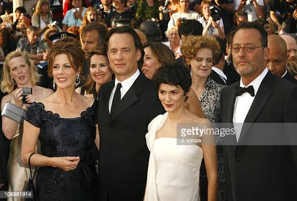 Rita Wilson Tom Hanks Audrey Tautou and Jean Reno