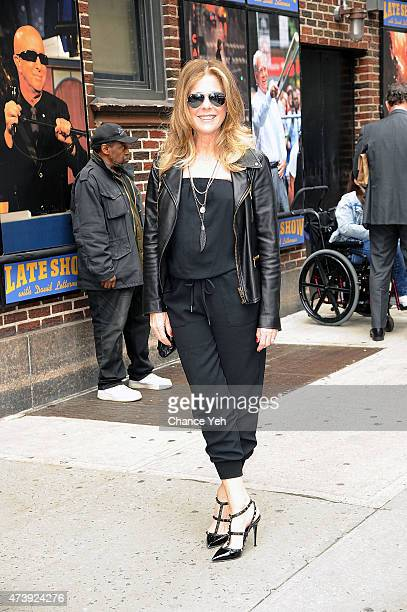 Rita Wilson visits Late Show With David Letterman at Ed Sullivan Theater on May 18 2015 in New York City