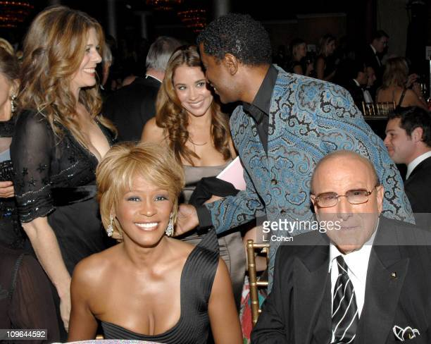 Rita Wilson Whitney Houston Kenny 'Babyface' Edmonds and Clive Davis