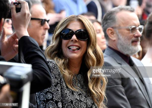 Rita Wilson who received a star on the Hollywood Walk of Fame with husband Tom Hanks on March 29 2019 in Hollywood California