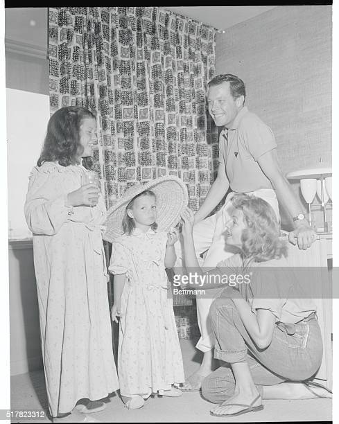 Rita's Children Hour Las Vegas Nevada Here's and exclusive photo showing Rita Hayworth with her children and singer Dick Haymes whom she plans to...