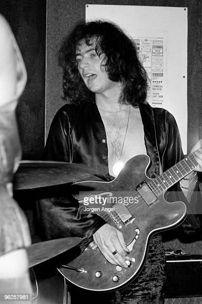 Ritchie Blackmore of Deep Purple performs on stage at Club 6 on September 7th 1969 in Copenhagen Denmark He plays a Gibson ES335 guitar