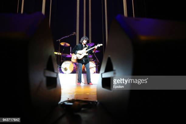 Ritchie Blackmore of Rainbow performs at SC Olympic on April 8 2018 in Moscow Russia