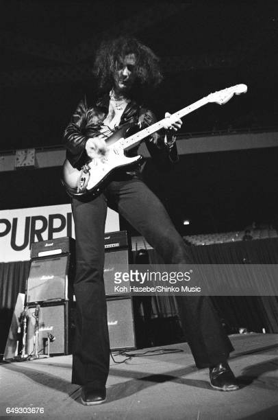 Ritchie Blackmore playing guitar with Deep Purple at Nippon Budokan August 17th 1972