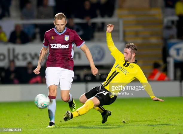 Ritchie De Laet of Aston Villa during the Carabao Cup Second Round match between Burton Albion and Aston Villa at the Pirelli Stadium on August 28,...