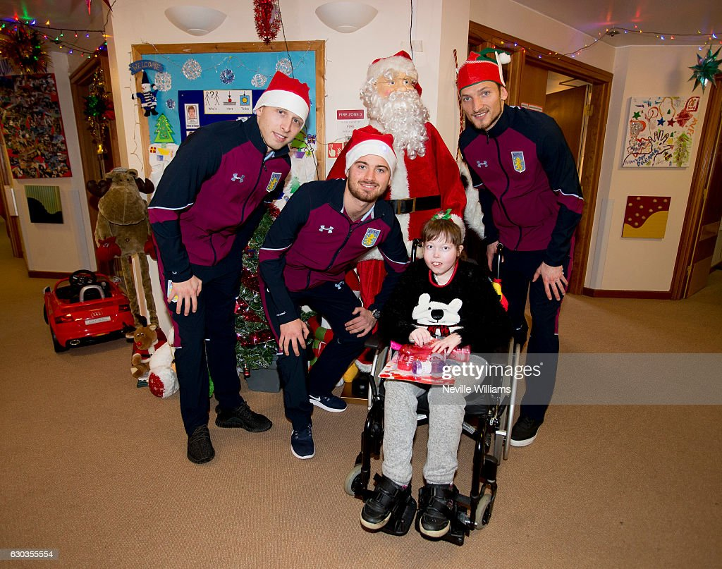 Aston Villa Players Deliver Christmas Presents to Local Hospitals