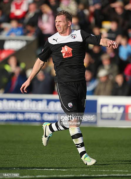 Ritchie Humphreys of Chesterfield in action during the Sky Bet League Two match between Fleetwood Town and Chesterfield at Highbury Stadium on...