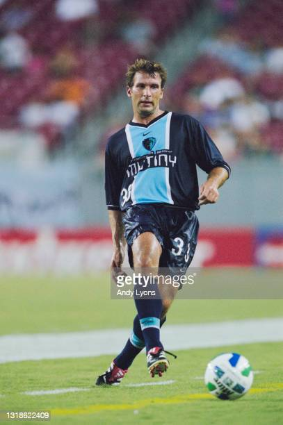 Ritchie Kotschau, Defender for the Tampa Bay Mutiny during the MLS Eastern Conference match against the Kansas City Wizards on 9th September 2000 at...