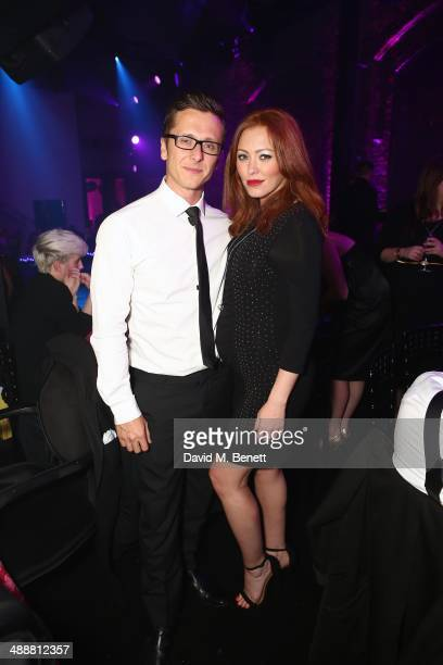 Ritchie Neville and Natasha Hamilton attend the London Cabaret Club Gala Launch at The Collection on May 8 2014 in London England