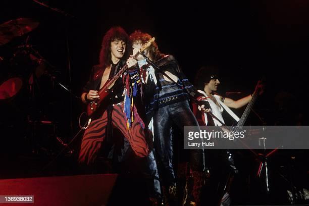 Ritchie Sambora performing with 'Jon Bon Jovi' at the Cal Expo in Sacramento California on November 21 1983
