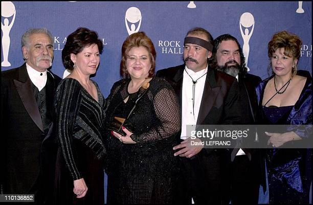 Ritchie Valens Family at Annual Rock and Roll hall of fame at the Waldorf Astoria Hotel in New York, United States on March 19, 2001.