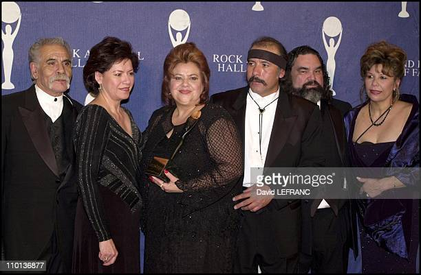 Ritchie Valens Family at Annual Rock and Roll hall of fame at the Waldorf Astoria Hotel in New York United States on March 19 2001