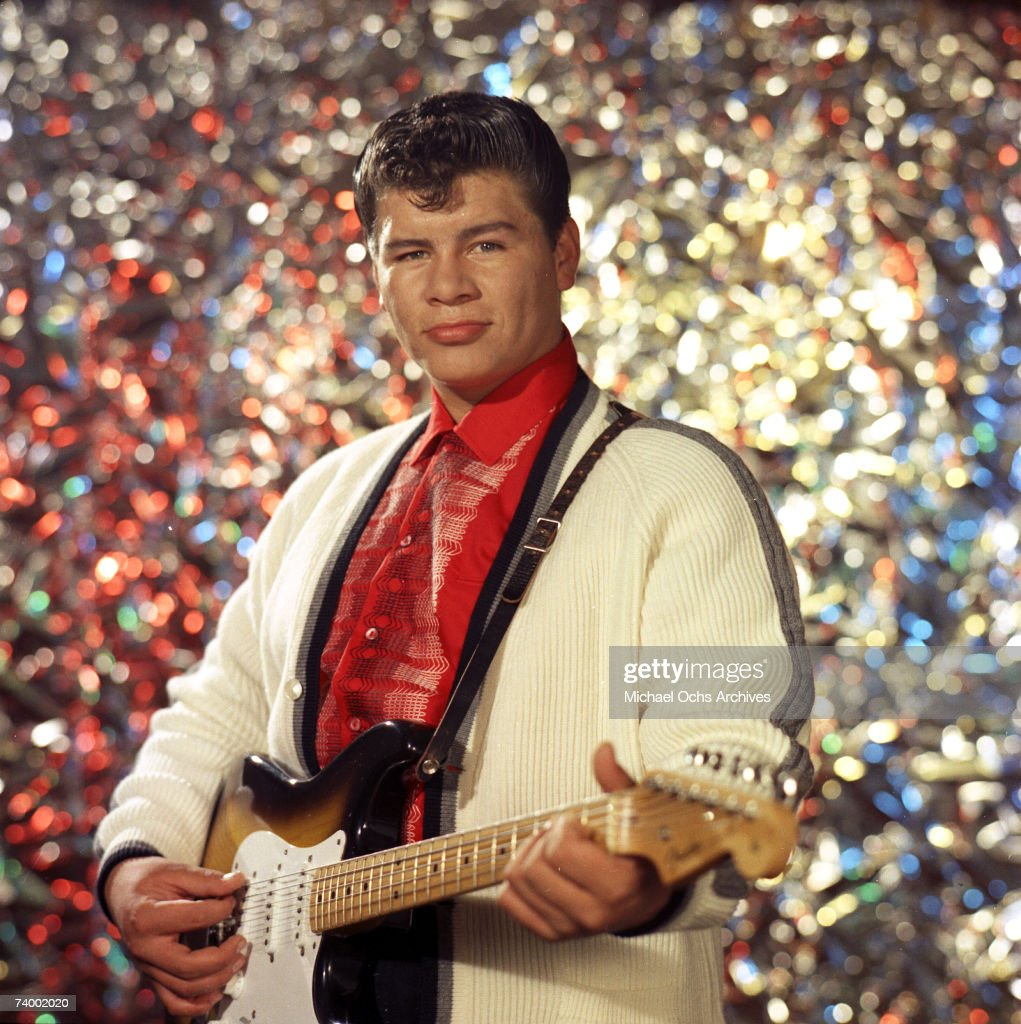 Ritchie Valens (Richard Steven Valenzuela) poses for his famous album cover session in July 1958 in Los Angeles, California.