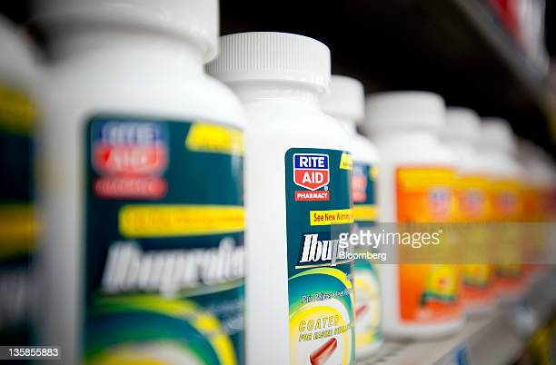 Rite Aid Corp brand ibuprofen is displayed for sale at a store in Mechanicsburg Pennsylvania US on Thursday Dec 15 2011 Rite Aid Corp the...