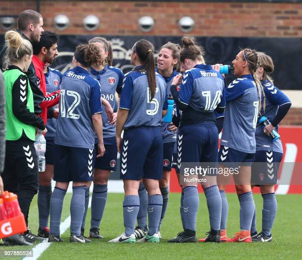 Riteesh Mishra First Team Coach of Charlton Athletic Womenhaving words during SSE Women's FA Cup quarter_final match between Arsenal against Charlton...