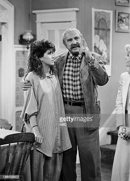 LIFE Rites of Passage Part 1 Episode 23 Aired 5/2/87 Pictured Nancy McKeon as Joanna 'Jo' Marie Polniaczek Bonner Sheldon Leonard as Josef Polniaczek...