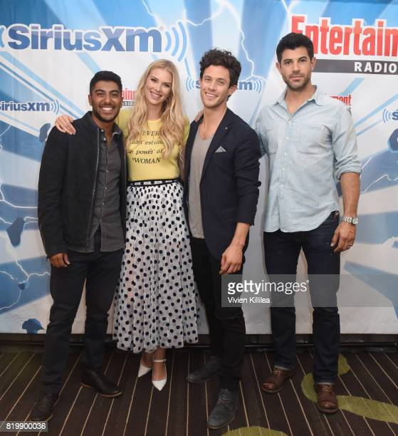 Ritesh Rajan Emma Ishta Kyle Harris and Damon Dayoub attend SiriusXM's Entertainment Weekly Radio Channel Broadcasts From Comic Con 2017 at Hard Rock...