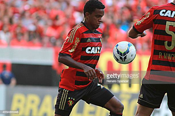 Rithely of Sport Recife in action during the the Brasileirao Series A 2014 match between Sport Recife and Fluminense at Arena Pernambuco on November...