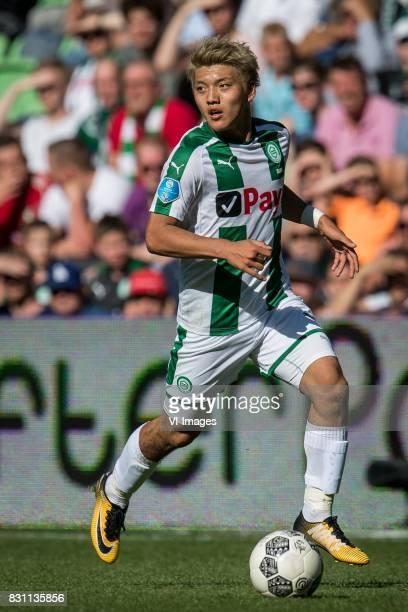 Ritsu Doan of FC Groningen during the Dutch Eredivisie match between FC Groningen and sc Heerenveen at Noordlease stadium on August 13 2017 in...