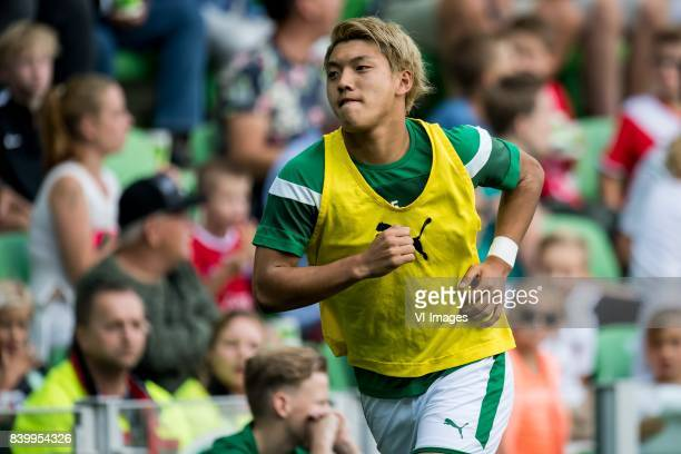 Ritsu Doan of FC Groningen during the Dutch Eredivisie match between FC Groningen and FC Utrecht at Noordlease stadium on August 27 2017 in Groningen...